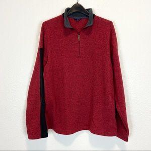 Lands End 1/4 Zip Pullover Fleece Sweatshirt L/T